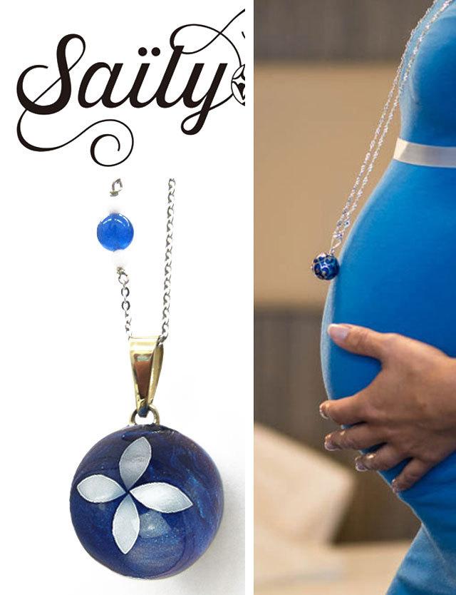 Saily ボラス メロディボール ネックレス フルール ブルー sa3100dxb5 妊婦さんへのプレゼントに!胎教にもよい美しい鈴音