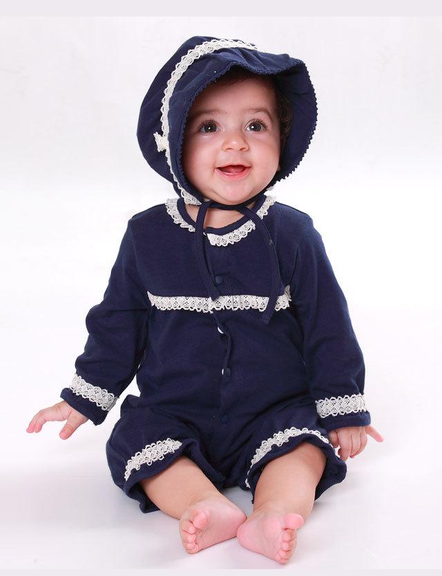 日本製 オーガニックコットン100% 新生児ベビードレス2点セット 2WAYカバーオール・ボンネット 50-70サイズ sf7013