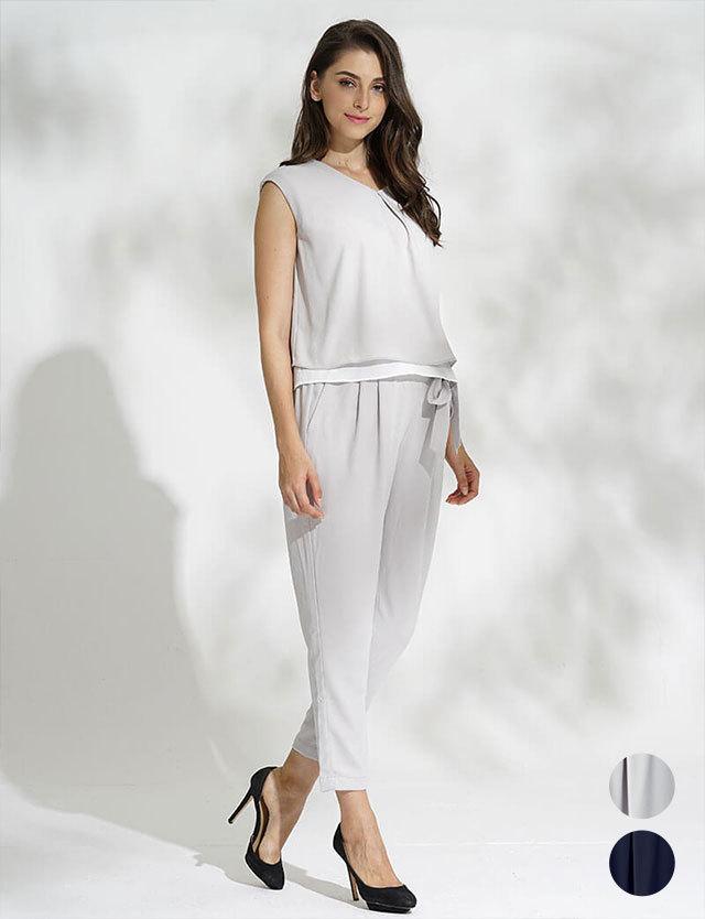 【SALE3月22日まで】授乳服マタニティウェア フレンチスリーブ×テーパード セットアップ sj6036