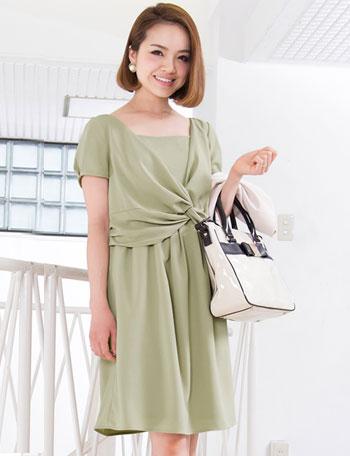 【開店記念SALE~8/24】【夏のプチプラ】授乳服マタニティウェア ツイストドレープワンピース so5021