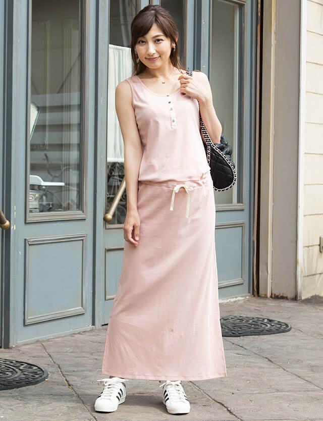 【夏のプチプラ】ノースリーブ マキシワンピース so6029 授乳服マタニティウェア