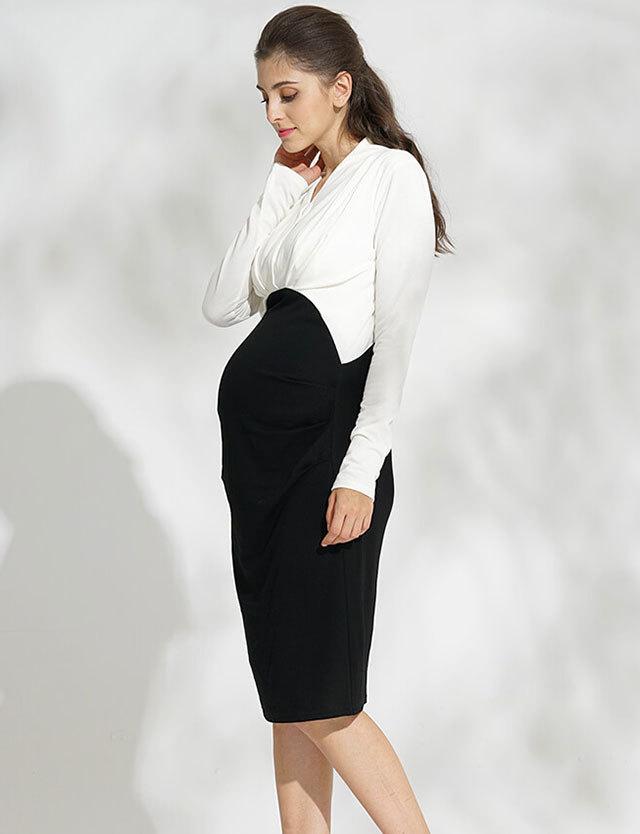 【ハロウィンSALE~11/1】【再入荷特別価格】授乳服マタニティウェア タックワンピース so6077