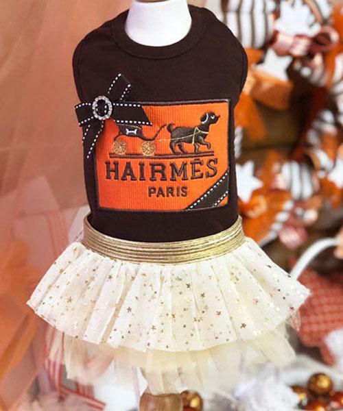 【Luna Blue★ルナブルー】ヘアメス ドッグ ドレス☆Hairmes Dog Dress