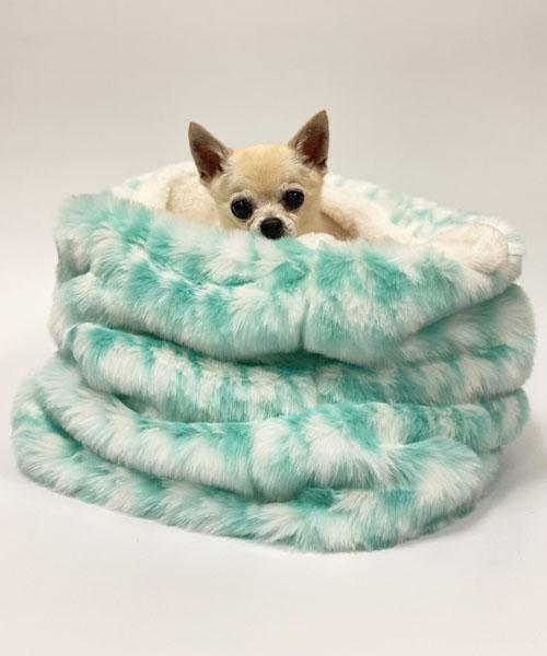 【Luna Blue★ルナブルー】ハウンドトゥース コージー ベッド☆HOUND TOOTH COZY BED