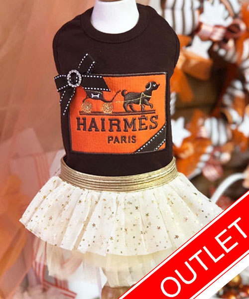 ★会員様限定販売★【Luna Blue★ルナブルー】ヘアメス ドッグ ドレス☆Hairmes Dog Dress