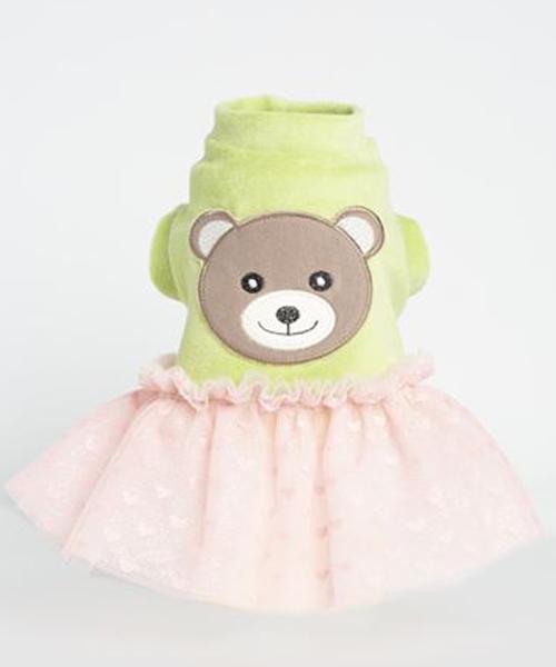 【Sparkling Dog★スパークリングドッグ】SPARKLING BEAR TUTU/PASTEL GREEN