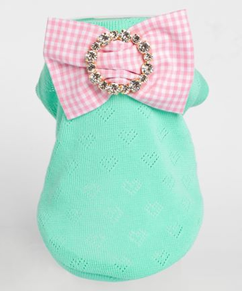 ※先行予約販売※【Sparkling Dog★スパークリングドッグ】SPARKLING ORGANIC COTTON WITH PRECIOUS BOW