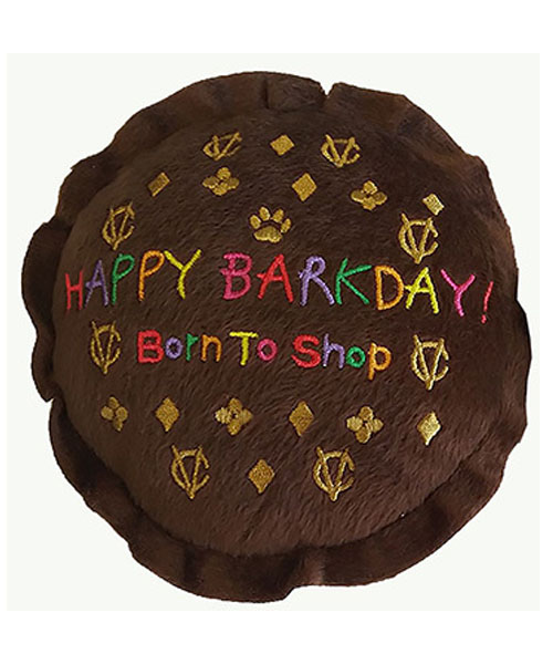 【Dog Diggin Designs】Chewy Vuiton Happy Barkday Cake Toy