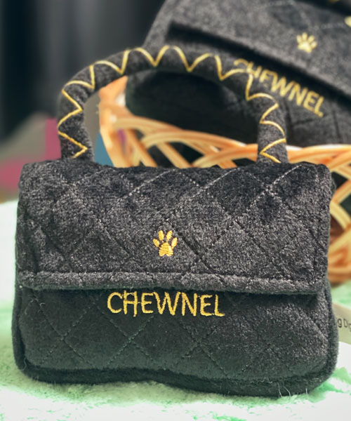【Dog Diggin Designs】Chewnel Classique Black Toy