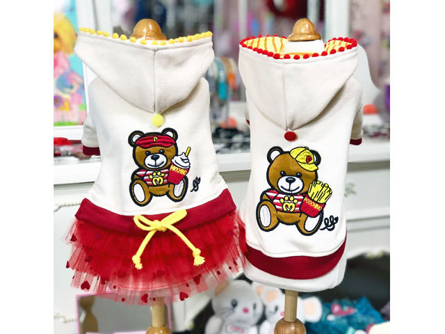 【Luna Blue★ルナブルー】Poochino Fast Food Bear  Hoodie 日本限定コレクション