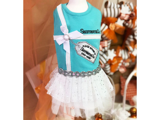 【Luna Blue★ルナブルー】SNIFFANY PLATINUM TAG DRESS