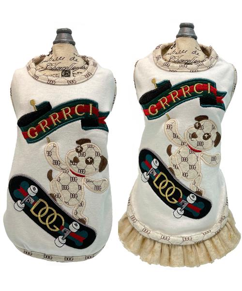※先行予約販売※【Luna Blue★ルナブルー】GRRRCI DOG SKATEBOARD Tank&Dress