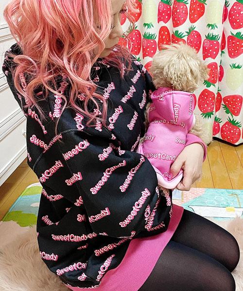 ※先行予約販売※【Sweet Candy】SCロゴフーディ/ママとお揃いセット