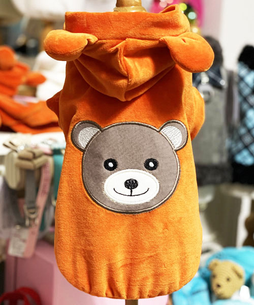 【Sparkling Dog★スパークリングドッグ】SPARKLING BEAR SWEATSHIRT-ORANGE-