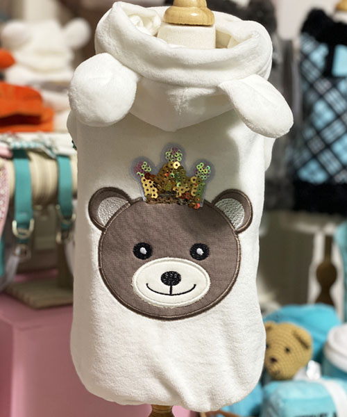 【Sparkling Dog★スパークリングドッグ】SPARKLING BEAR SWEATSHIRT-CREAM-