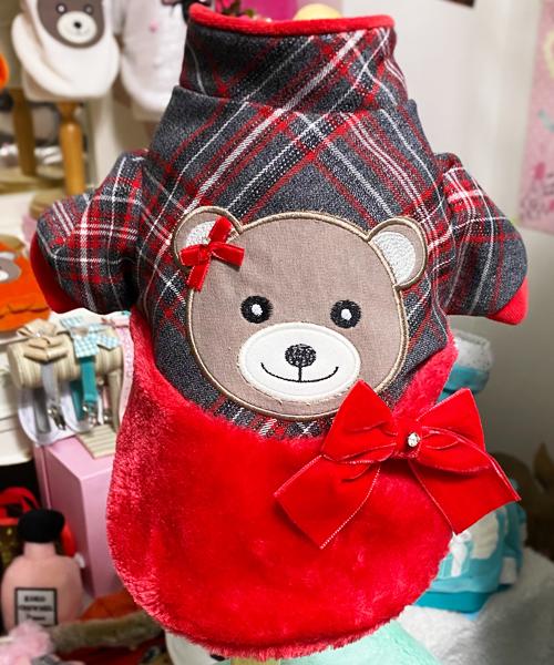 【Sparkling Dog★スパークリングドッグ】TARTAN BEAR COAT
