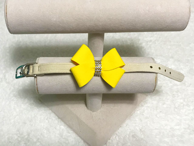 【Susan Lanci★スーザンランシー】Nouveau Bow Collar(Doe×Sunshine)