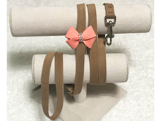 【Susan Lanci★スーザンランシー】Nouveau Bow Leash(Fawn×PNC)