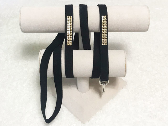 【Susan Lanci★スーザンランシー】3 ROW Leash(Black)Golden Shadow