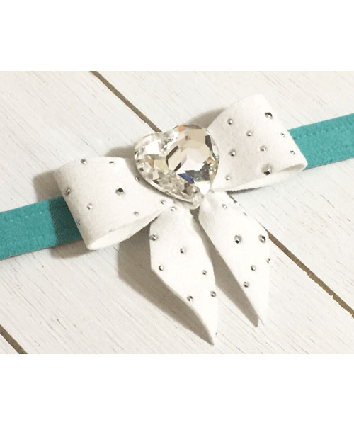 【Susan Lanci★スーザンランシー】Tail Bow Collar(Bimini×Premium White)SSDT