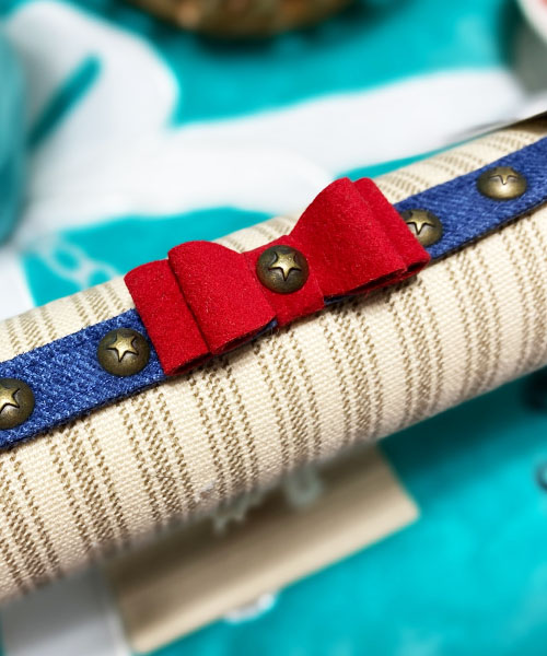 【Susan Lanci★スーザンランシー】Big Bow Denim Collar/3カラー
