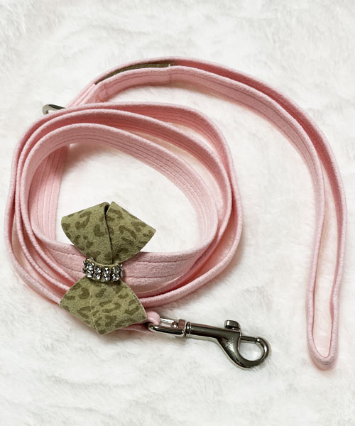 【Susan Lanci★スーザンランシー】Baby Cheetah Nouveau Bow Leash/Puppy Pink