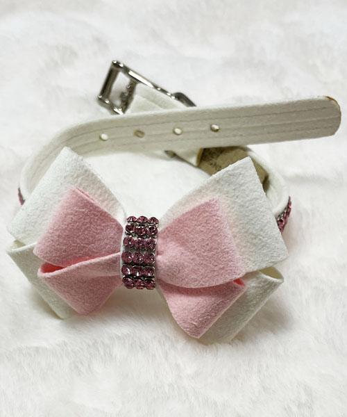 ※アウトレット商品※【Susan Lanci★スーザンランシー】Hope Collar/PW×Puppy Pink/Pink GM