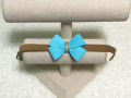 【Susan Lanci★スーザンランシー】Nouveau Bow Collar(Fawn×Tiffi Blue)
