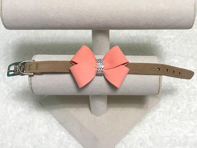 【Susan Lanci★スーザンランシー】Nouveau Bow Collar(Fawn×PNC)