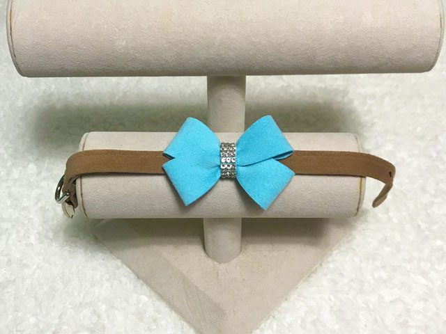【Susan Lanci★スーザンランシー】Nouveau Bow Collar(Fawn×Tiffi Blue)