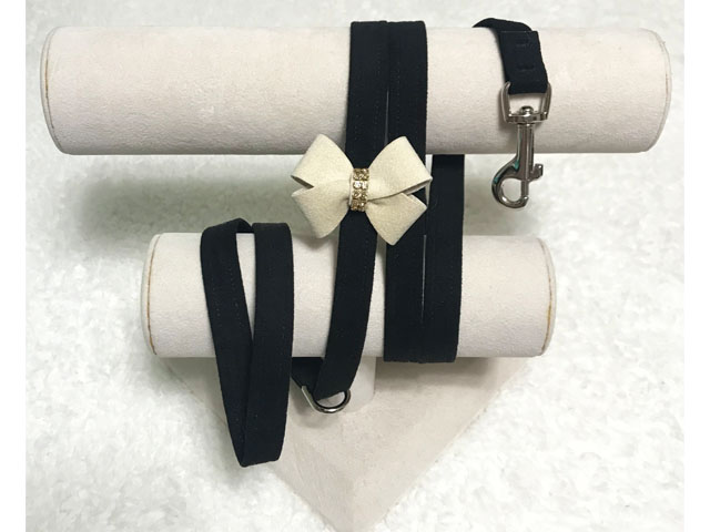 【Susan Lanci★スーザンランシー】Nouveau Bow Leash(Black×Doe)Golden Shadow
