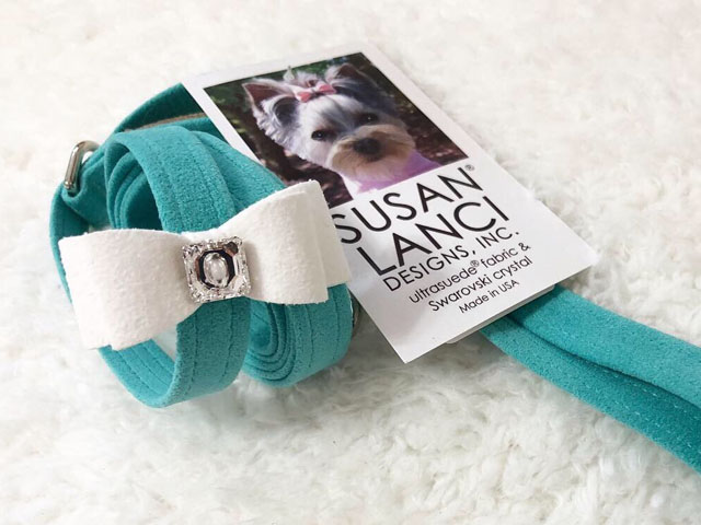 【Susan Lanci★スーザンランシー】Big Bow Leash (Bimini×Premium White)