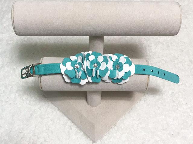 【Susan Lanci★スーザンランシー】Tinkie Garden Collar(Bimini×Premium White)