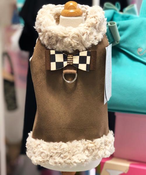 【Susan Lanci★スーザンランシー】ハーネス ベスト/ブラウン☆Harness Vest/Brown