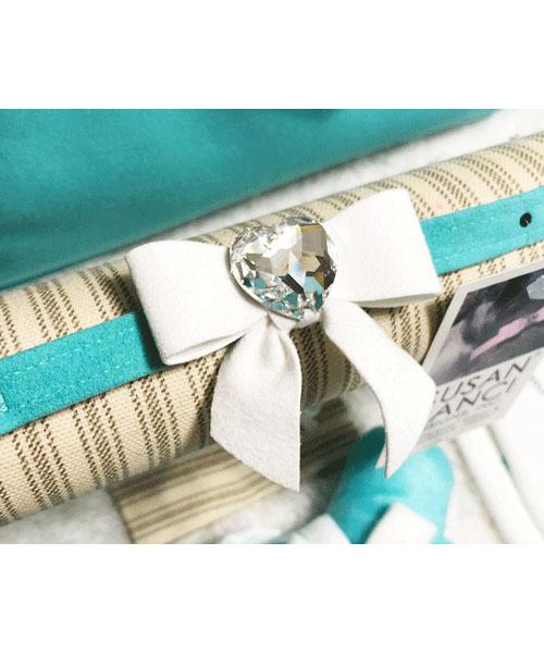 【Susan Lanci★スーザンランシー】Tail Bow Collar(Bimini×Premium White)