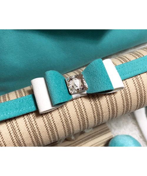 【Susan Lanci★スーザンランシー】Really Big Bow Collar(Bimini×Premium White×Bimini)