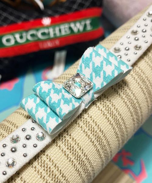 【Susan Lanci★スーザンランシー】Houndstooth Big Bow Collar/Charlotte's Web