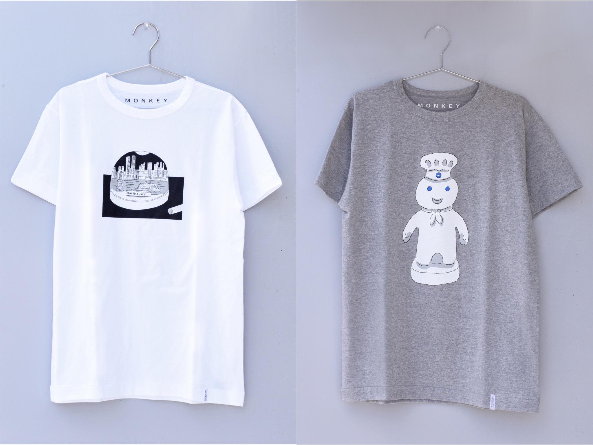 安西水丸 おもしろ美術一年生 Tシャツ(ニューヨーク編)