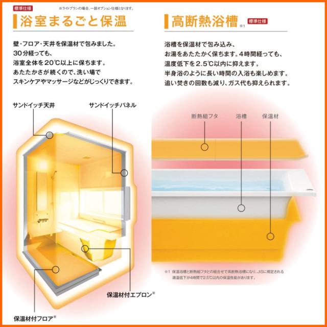 クリナップユアシスライトプラン 浴室まるごと保温