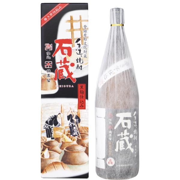 石蔵黒 25度 1800ml 芋焼酎 白金酒造 手造り焼酎 鹿児島 通販