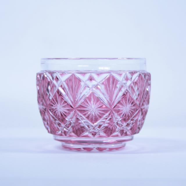 【薩摩切子】 猪口 [赤金] クリスタルガラス製 鹿児島 MIRIYU工房 おちょこ