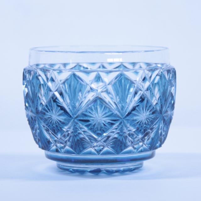 【薩摩切子】 猪口 [ブルー] クリスタルガラス製 鹿児島 MIRIYU工房 おちょこ