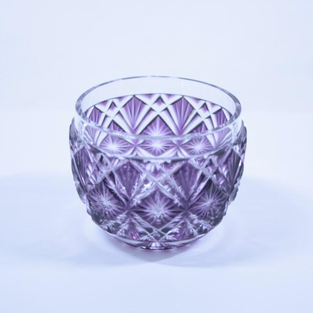 【薩摩切子】 猪口 [金紫] クリスタルガラス製 鹿児島 MIRIYU工房 おちょこ