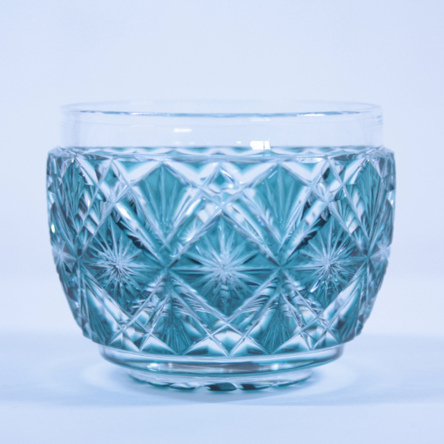 【薩摩切子】 猪口 [緑] クリスタルガラス製 鹿児島 MIRIYU工房 おちょこ