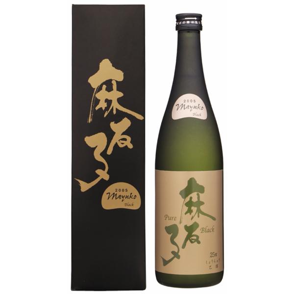麻友子 ピュアブラック 化粧箱入 25度 720ml 白露酒造 芋焼酎 鹿児島