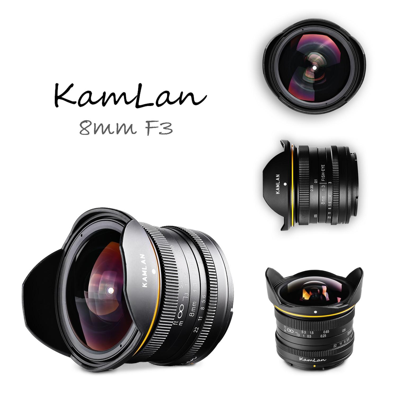 KAMLAN (カムラン)8mm F3.0 フィッシュアイ 各社ミラーレスカメラ用