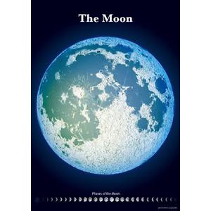 光るポスター 精密夜光月面図