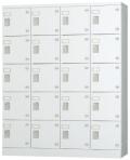 20人用ロッカー(4列5段)シリンダー錠 GLK-S20 幅1200×奥行380×高さ1510