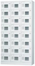 24人用ロッカー(3列8段) GLK-S24TW ※窓付きタイプ(受注生産・納期約1ヶ月)  幅900×奥行380×高さ1790