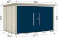 タクボ物置 Mr.ストックマンダンディ  ND-SZ3226Y 結露減少型 多雪型(側面棚タイプ) 幅3232×奥行2622×高さ2110mm